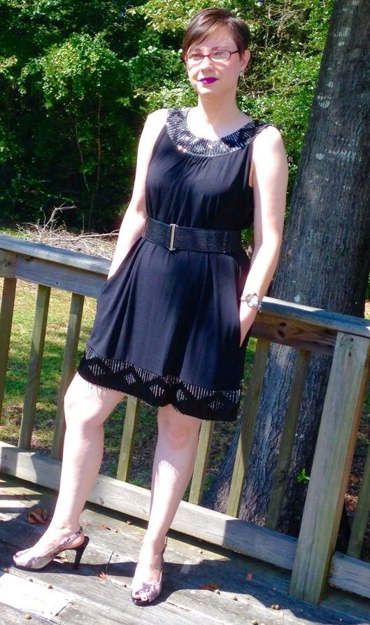 Would you believe I bought this Express dress new with tags at a yard sale for 50 cents! The shoes retail for $180. I paid $12 at a thrift store. Lipstick: MAC Heroine