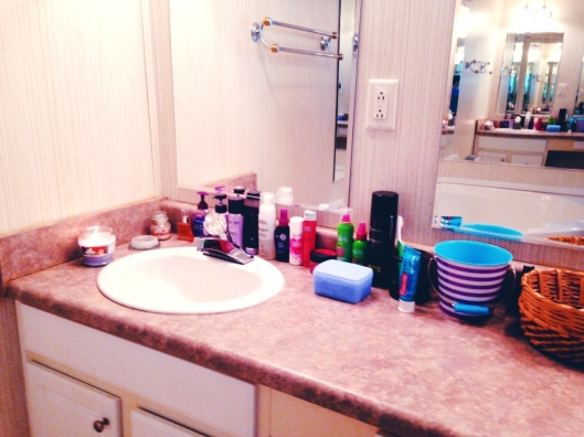 An actual shot of my bathroom sink