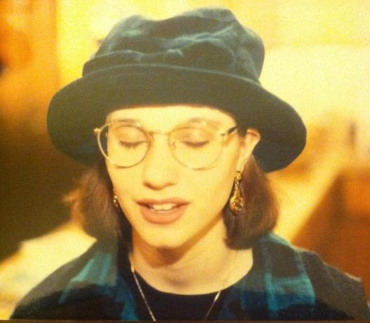Circa 1995. I wore black Bongo jeans and a silk floral embroidered vest with booties.